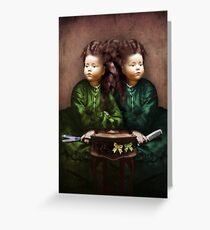 The hair affair Greeting Card