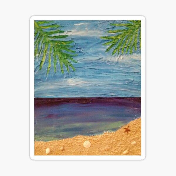 Ocean Scene Painting Sticker