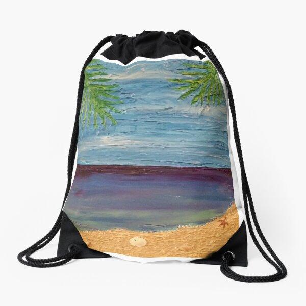 Ocean Scene Painting Drawstring Bag