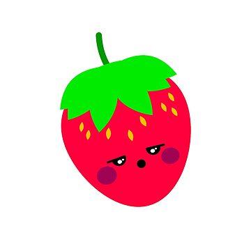 Funny Strawberry Cute novelty Shirt by UniverseZen
