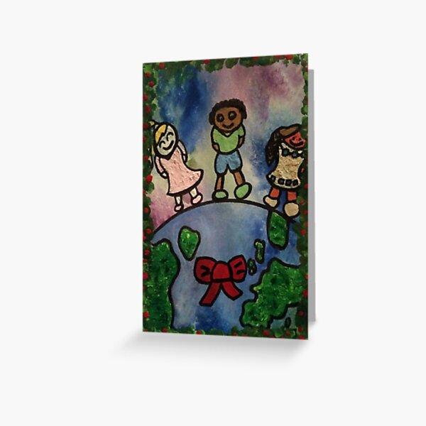 Children Around the World Painting Greeting Card