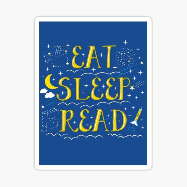 Eat Sleep Read Sticker