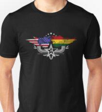 Bolivian American Flag USA Bolivia Unisex T-Shirt