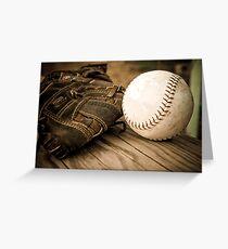 Baseball Glove Greeting Card