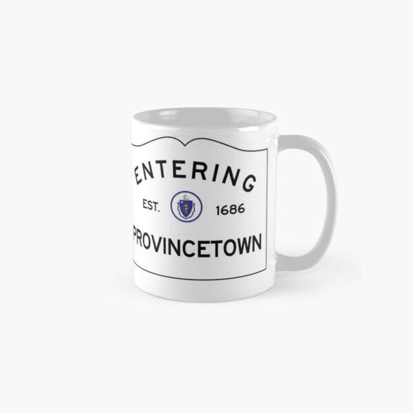 Entering Provincetown Massachusetts - Commonwealth of Massachusetts Road Sign  Classic Mug