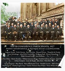 1927 Solvay Conference (spacetime bg), posters, prints Poster