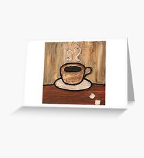 Mixed Media Coffee Cup Greeting Card