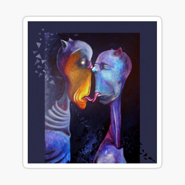 Popsurreal Art - Malerei: Züngelei Sticker