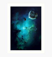 Cybertron nebulae Art Print