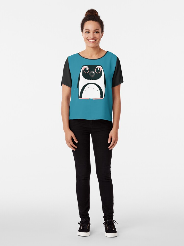 Alternate view of African Penguin - 50% of profits to charity Chiffon Top