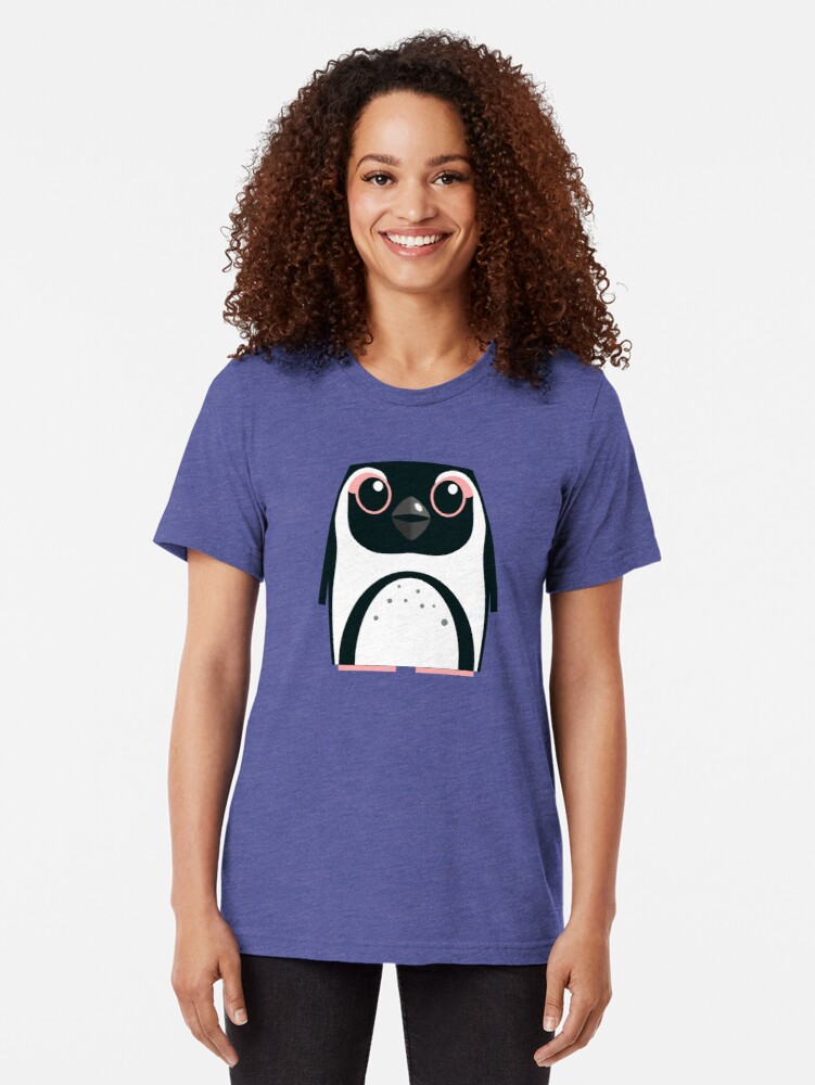 Alternate view of African Penguin - 50% of profits to charity Tri-blend T-Shirt