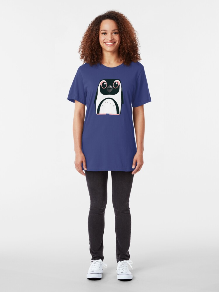 Alternate view of African Penguin - 50% of profits to charity Slim Fit T-Shirt