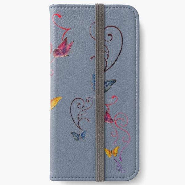 Schmetterlinge iPhone Flip-Case