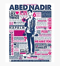 The Wise Words of Abed Nadir Photographic Print