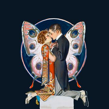 """Love in the 1920's"" - Kissing Couple by vertigocreative"