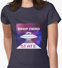 deep nerd state Women's Fitted T-Shirt