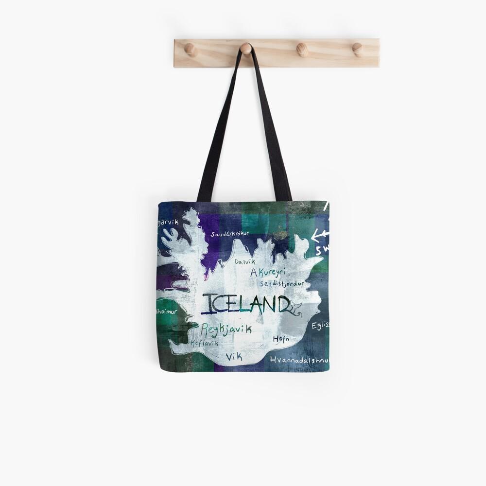Island Karte Stofftasche