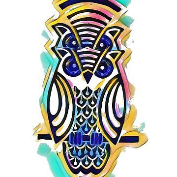 The trippy owl by atelierwilfried