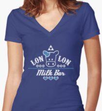 LonLon Milk Bar Women's Fitted V-Neck T-Shirt