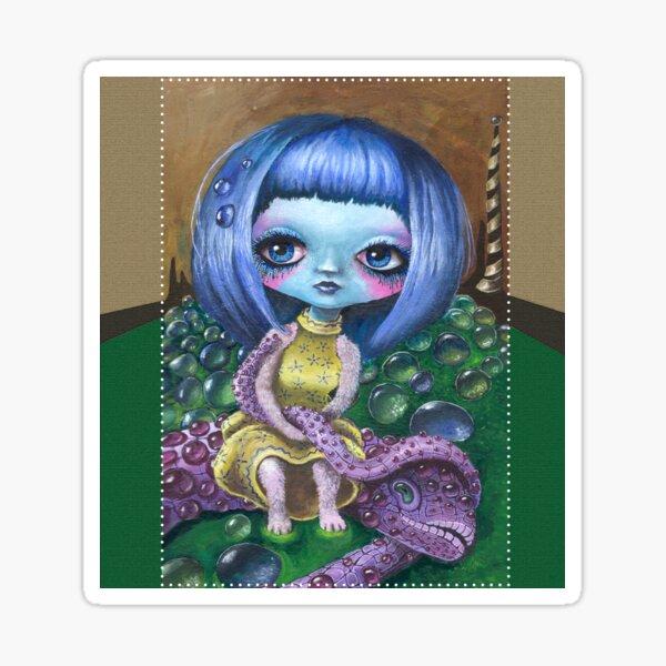 Lowbrow Illustration - Malerei: Chinadoll Sticker