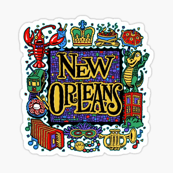 New Orleans - Andy Lackow Designs Sticker