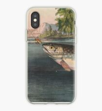 Vintage River Fishing Illustration (1874) iPhone Case