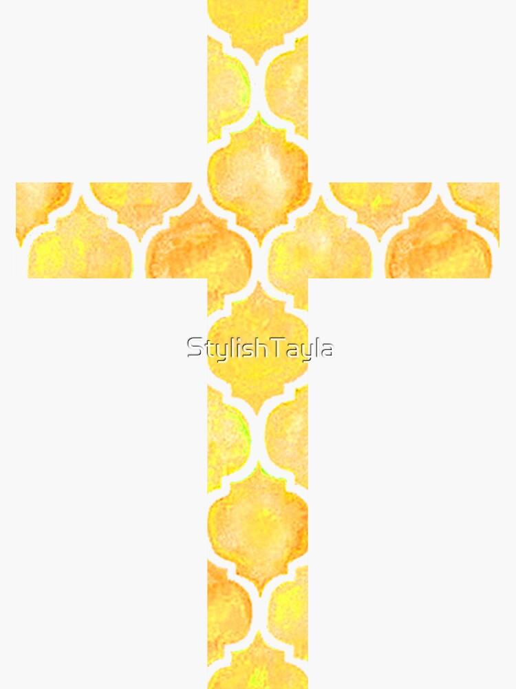 Gelber Ostern Cross Design von StylishTayla
