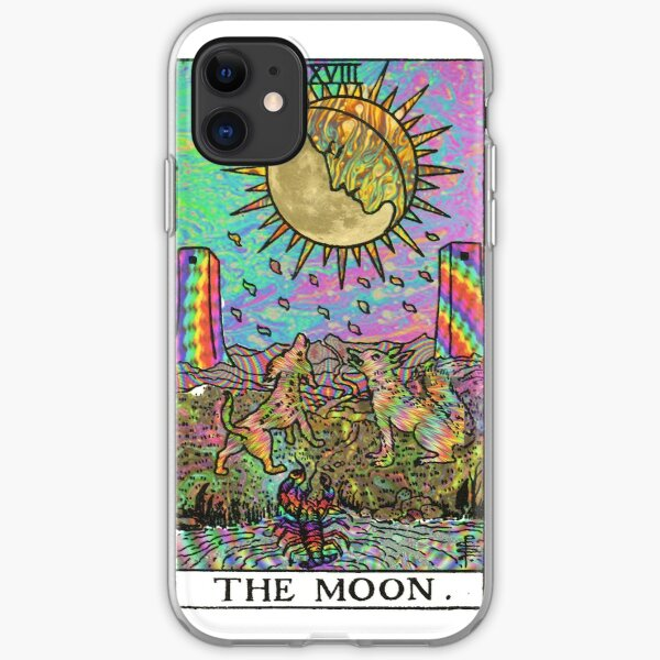 Psychadelic Tarot- The moon iPhone Soft Case