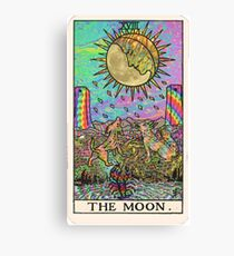 Psychadelic Tarot- The moon Canvas Print