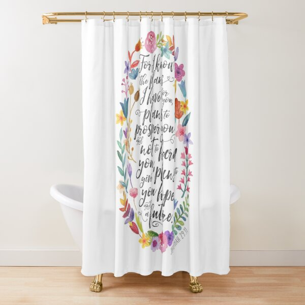 Hope and A Future | Jeremiah 29:11 Shower Curtain