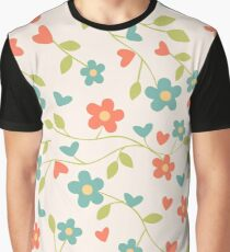 CONTRAST TANKS FLOWERS Graphic T-Shirt