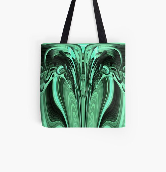 Aqua Dragon 1 by Cecile Grace Charles All Over Print Tote Bag