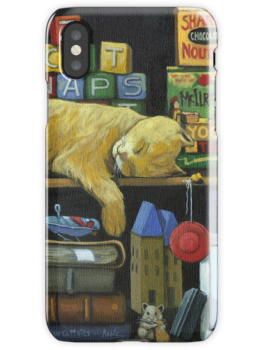 Cat Naps - Old Books still life oil painting