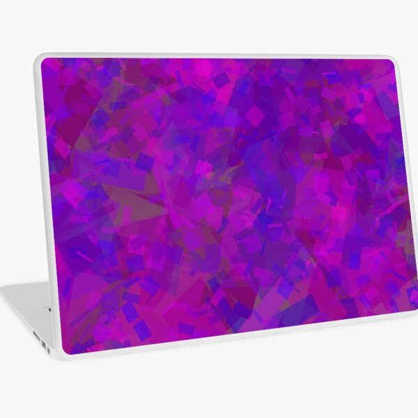 Purple and Blue Blocks by Cecile Grace Charles Laptop Skin