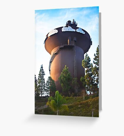 San Diego Water Tower Greeting Card