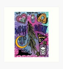 Witchy Woman Flash Art Print