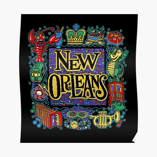 New Orleans - Andy Lackow Designs Poster
