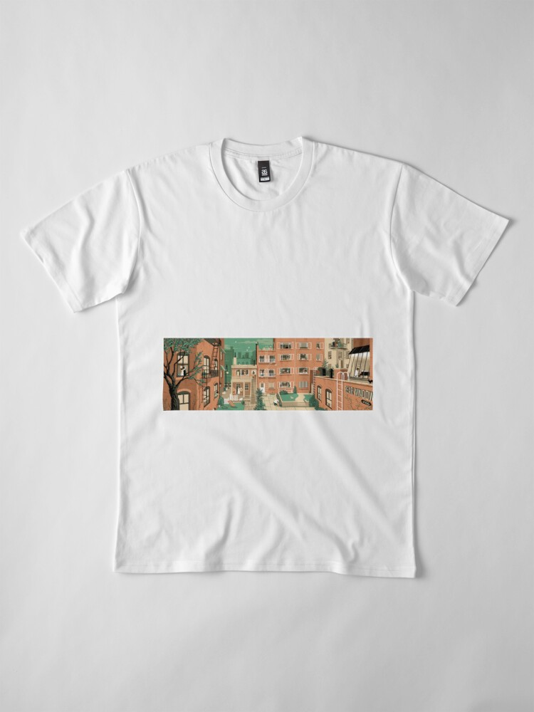 Vista alternativa de Camiseta premium Carteles de viaje - Ventana trasera de Hitchcock - Greenwitch Village New York