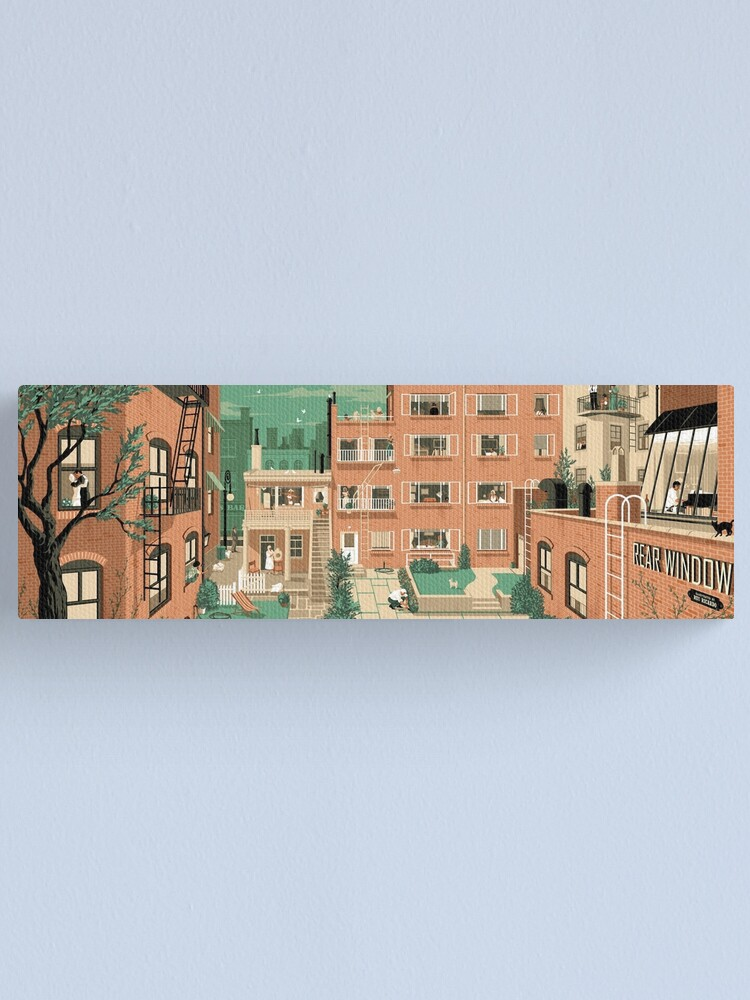 Alternate view of Travel Posters - Hitchcock's Rear Window - Greenwitch Village New York Canvas Print