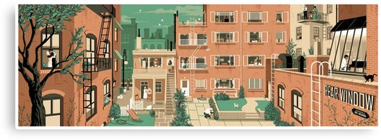 Travel Posters - Hitchcock's Rear Window - Greenwitch Village New York by Rui Ricardo