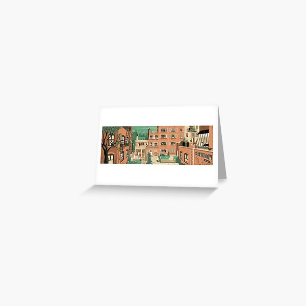 Travel Posters - Hitchcock's Rear Window - Greenwitch Village New York Greeting Card