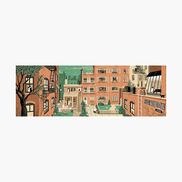 Travel Posters - Hitchcock's Rear Window - Greenwitch Village New York Photographic Print