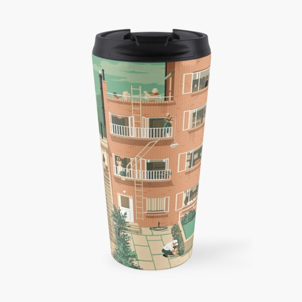 Travel Posters - Hitchcock's Rear Window - Greenwitch Village New York Travel Mug