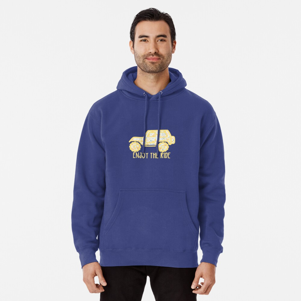 Floral Jeep (yellow) Pullover Hoodie