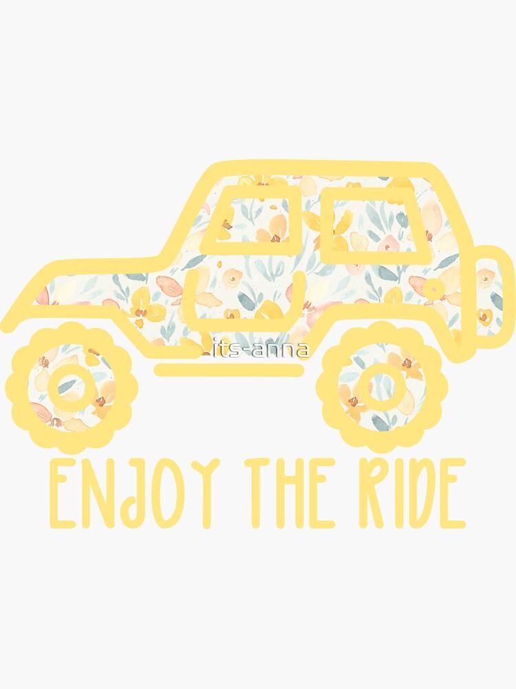 Jeep floral (amarillo) de its-anna