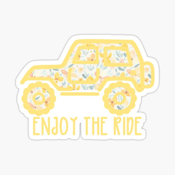 Floral Jeep (yellow) Sticker