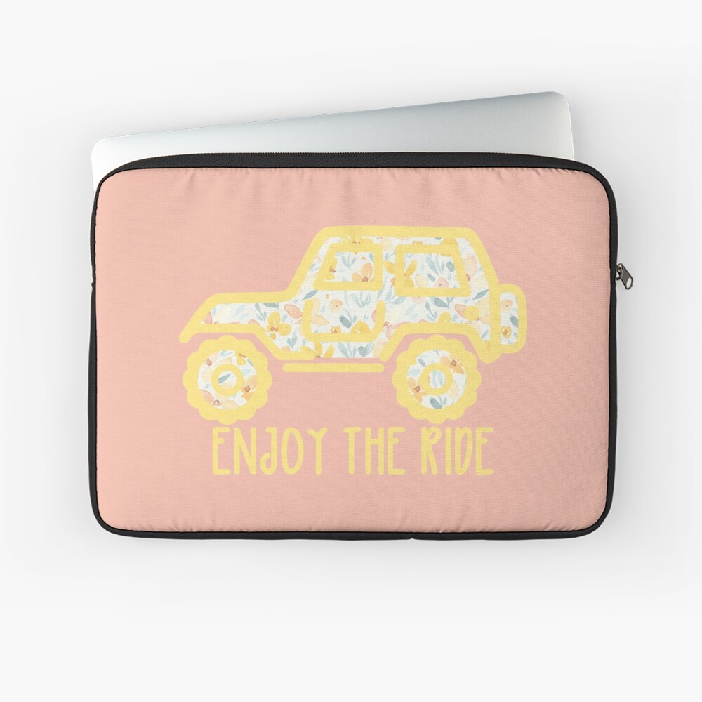 Floral Jeep (yellow) Laptop Sleeve