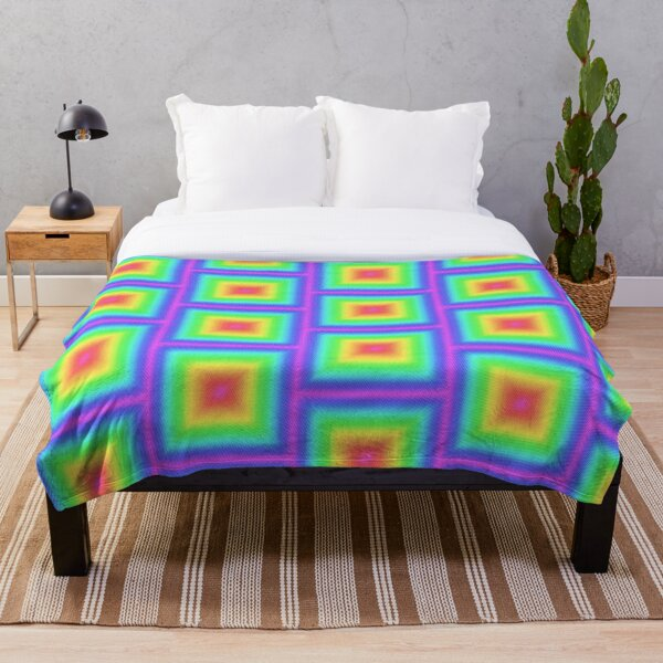Colorfully Square Throw Blanket