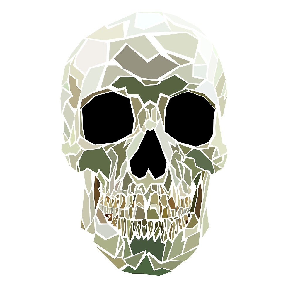 """Geometric Skull"" by millermindspace 