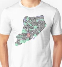 Staten Island New York Typographic Map Unisex T-Shirt